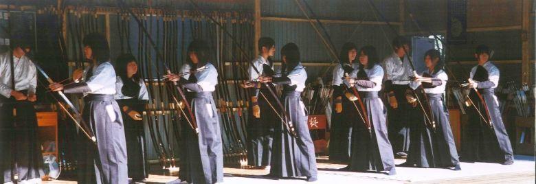 弓道部練習風景